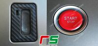 ADESIVI decal alfa romeo 159 Brera Spider tasto start blocchetto sticker carbon