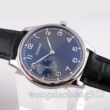 44mm Parnis black dial mechanical hand-winding 6497 Vintage Mens Watch