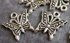 20Pcs Alloy Metal Butterfly Beads Finding For Jewelry Making