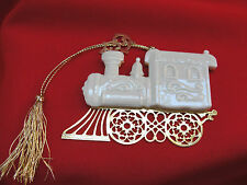 Lenox Christmas Tree Ornament 1994 Train One Side China One Side Gold