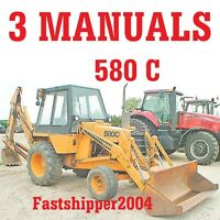 Case 580C 580 C CK Loader Backhoe Manuals Service Operator Parts Manuals ON CD