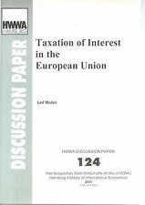 Taxation of Interest in the European Union