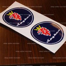 saab spyker hood emblem decal sticker for scania 900 93