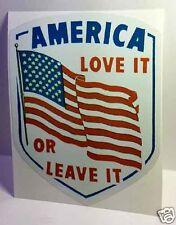 America Love it or Leave it Vintage Style Decal / Vinyl Sticker