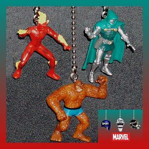 MARVEL FIGURES CEILING FAN PULLS CHOICE OF THE HUMAN TORCH, THING OR DR. DOOM