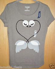 Old Navy LOVE BIRDS T-Shirt Tee Top Size X-SMALL Birds Form Heart CUTE NWT