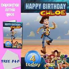 TOY STORY - PERSONALISED Birthday Card Daughter Sister Niece