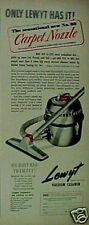 1948 Lewyt Vacuum Sweeper Household Appliance Print AD