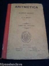ARITMÉTICA CURSO MEDIO Maestro BRUÑO Ejercicios Problemas Soluciones Libro viejo