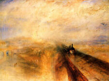 Rain Steam Speed on Great Western Railway Turner Canvas or Fine Art Poster NEW