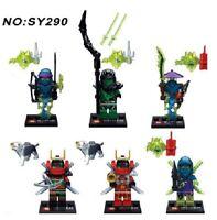 Ninjago Mini Figures Zane Lloyd Kai Cole Pythor ghouls + Samurai set x 6 NINJA