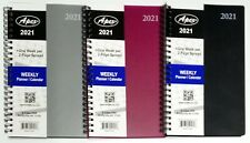 "2021 Weekly/Monthly Planner, Calendar, Agenda, Organizer, 5"" x 8"" Select color"
