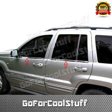For 1999-01 02 03 2004 Jeep Grand Cherokee 4PC Stainless Steel Window Sill