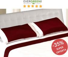Completo letto lenzuola matrimoniale 2 piazze in satin di cotone Rosso