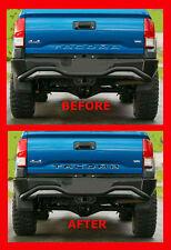 2016 2017 TOYOTA TACOMA Rear Bumper Black Chrome 3M Tailgate Letter Inserts Kit