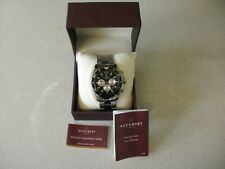 Accurist CALJS25 Mens Watch Chronograph Silver Stainless Steel Strap New boxed