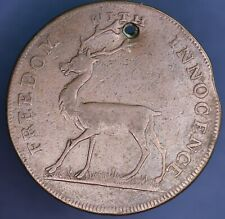 1796 Halfpenny Conder Token Middlesex - Freedom with innocence *[15355]