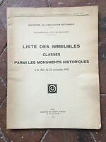 Lista Delle Edifici Certificata Tra I Monumenti Storici Novembre 1932