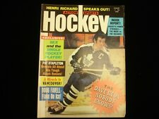 January 1972 Action Sports Hockey Magazine - Dave Keon Maple Leafs Cover
