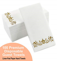 Gold Dinner Napkins Disposable Party Napkins Paper Feel Hand Towels for Wedding