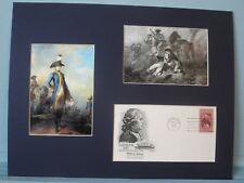 Marquis de Lafayette at the Battle of Brandywine & First Day Cover of his stamp