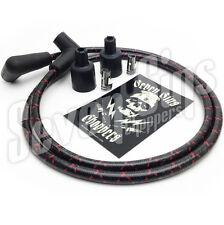 7MM SPARK PLUG WIRE IGNITION KIT CHOPPER BOBBER TRIUMPH HARLEY XS650 BLACK & RED