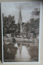 Old Parish Church and River Scene Postcard - Horsham West Sussex