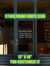 Custom Business Store Hours Sign Vinyl Decal Sticker 12 X 18 Window Door Glass