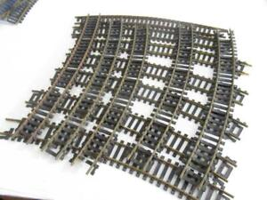 HO BRASS TRACK- 12 CURVES - MIXED - FAIR - NEED JOINERS - W81