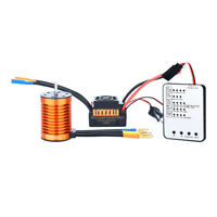 F540 4370KV Waterproof Brushless Motor&45A ESC&Card for 1/10 RC Racing Car Boat