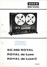 Manuel de Reparation pour Uher Sg 560, Royal de Luxe, Royal de Luxe C