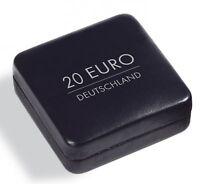 Leuchtturm Münzetui NOBILE für 1 deutsche 20 Euro Münze 38 mm in Kapsel schwarz