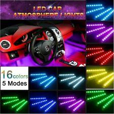4PCS 36 LED Car Interior USB Atmosphere Lights Strip Wireless IR Remote Control