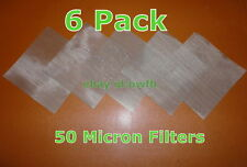 "(6 Pack) 4""x4""- 50 Micron Mesh Essential Oil Filter Screen Pack"