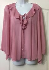 BNWT STUNNING CHIFFON FLARED SLEEVE LACED TOP SIZE 8 ROMANTIC FLOATY £35