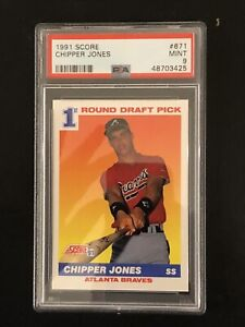 Chipper Jones, 1991 Score Rookie Draft Pick.  PSA 9