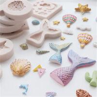 3D Ocean Beach Sea Shells Summer Silicone Cake Mold DIY Decoration Fondant Sugar
