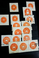 Great Britain Stamps Rare Collection of 50 orange embossed Revenues