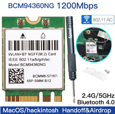 Hackintosh MacOS wifi card BCM94360NG NGFF M.2 wifi better than BCM94352Z DW1560