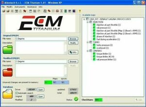 ECM Titanium 1.61 18000 E 26000 DRIVER + FILES ORI E MOD + WinOls 2.24 + DAMOS
