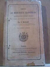 C. Maillet Choix de Morceaux Classiques des meilleurs écrivains anglais/Delalain