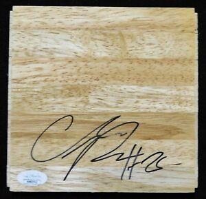 Chandler Parsons Atlanta Hawks Signed 6x6 Floorboard JSA Authenticated