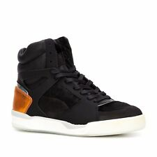 PUMA by ALEXANDER MCQUEEN HIGHTOP LEATHER SNEAKERS - BLACK - SIZE  7.5 2b8212565