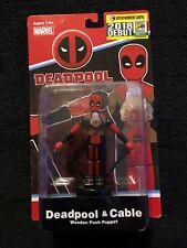 2018 SDCC Deadpool & Cable Wooden Puppet Entertainment Earth #0063/1500 Low #'d!