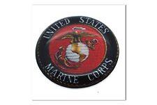 "1 Premium ""Marines"" Automotive Grade Glossy Domed Decal Sticker Emblem 7/8 inch"