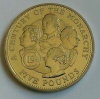 GUERNSEY £5 Five Pounds 2001 Monarchs of the 19th Century . Rare Proof Coin