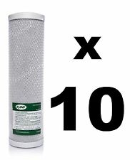 "10 x CARBON BLOCK FILTERS FOR REVERSE OSMOSIS UNITS, 10"",RO,WATER FILTER FCCBL"