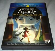 The Secret World of Arrietty (Disney DVD) Studio Ghibli TESTED FREE USA SHIPPING