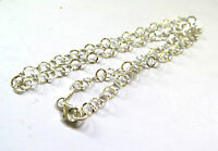 5mm thick EXQUISITE SOLID .925 STERLING SILVER  CHAIN NECKLACE KETTE 43cm