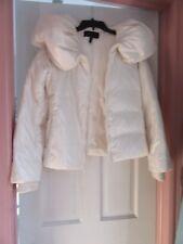BCBG MAXAZRIA White Duck Down White Jacket EUC Small